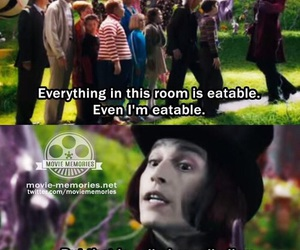 charlie and the chocolate factory, funny, and johnny depp image