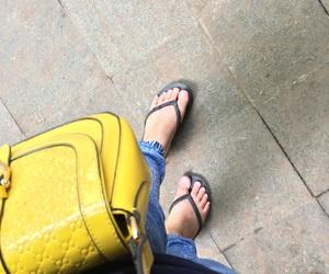 bag, colors, and yellow image