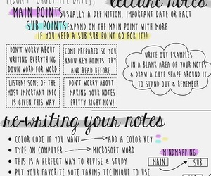 how, notes, and school image