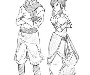mako, korra, and legend of korra image