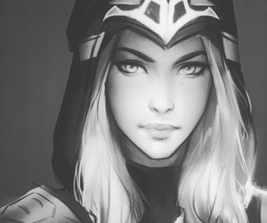 ashe, league of legends, and art image
