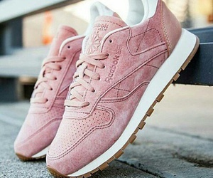 pink, reebok, and shoes image