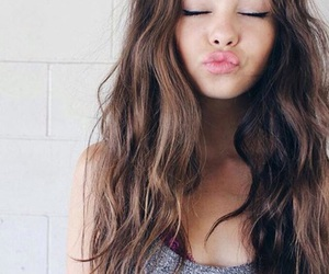 girl, hair, and kiss image