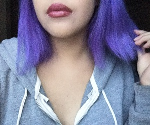 color hair, sweatshirt, and lilac hair image