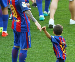 Barca, lionel messi, and camp nou image