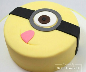 cake, candy, and minion image