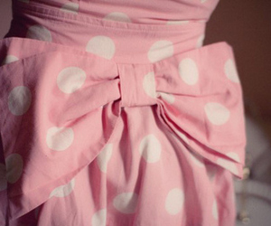 pink, bow, and dress image