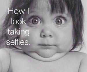 funny, selfie, and selfies image