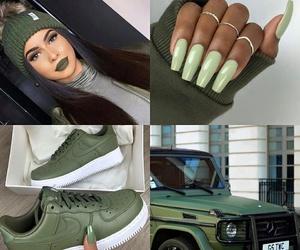 car, nails, and makeup image