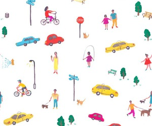 background, bicycle, and car image