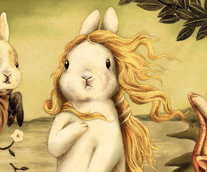 art, botticelli, and bunny image