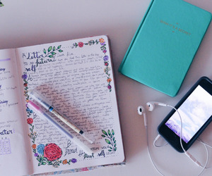 school, journal, and motivation image