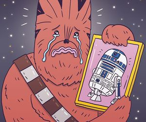chewie, r2-d2, and star wars image