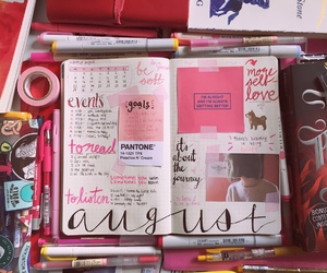 school, planner, and study image