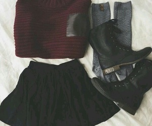 outfit, fashion, and skirt image