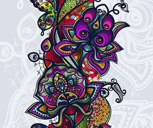 colores, fondo, and flores image