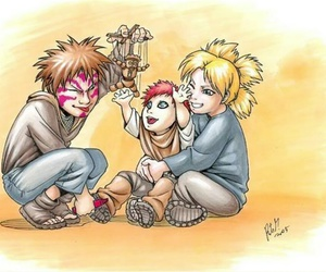 gaara, naruto, and brother image