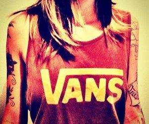 vans, cap, and girl image