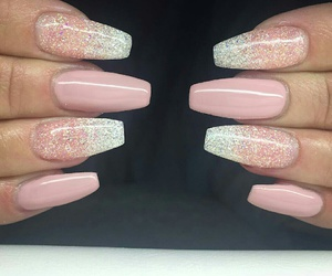 glitter, long, and nails image