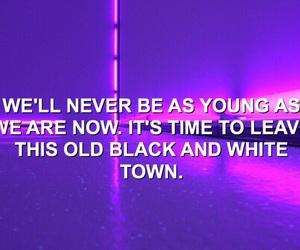dark purple, song lyrics, and 5 seconds of summer image