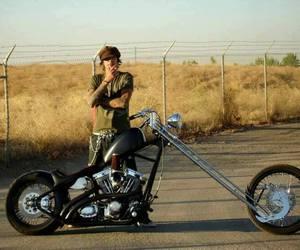 biker, chopper, and empty image
