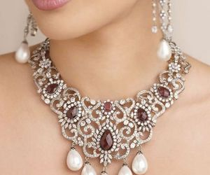 jewels, necklace, and pearls image