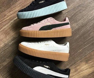 puma, girl, and shoes image