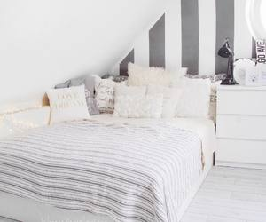 bed, decor, and pillow image