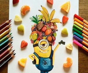 drawing, art, and minions image