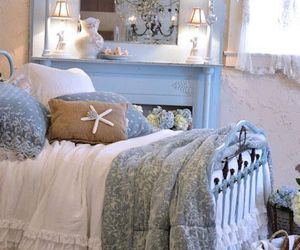 bedroom and shabby chic image