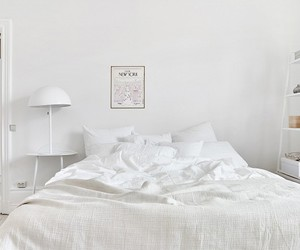 art, bedroom, and black and white image