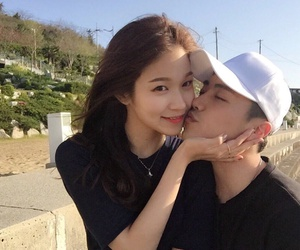 asian, korean, and couple image