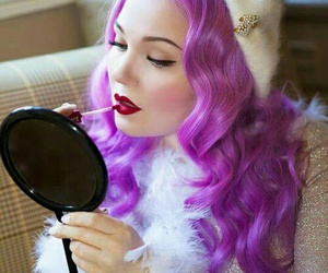beautiful, color, and purple hair image