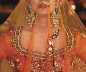 india, bride, and fashion image