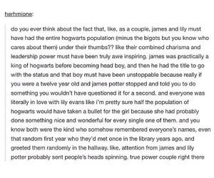 harry potter, hogwarts, and james potter image