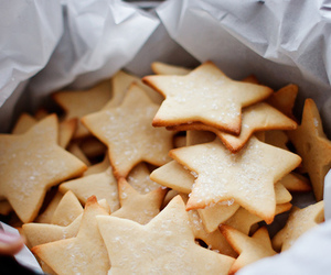 food, stars, and Cookies image