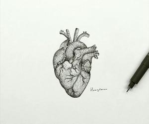 art, hongdam, and heart image