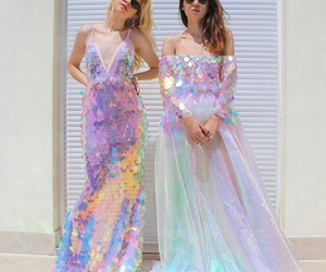 dress and holographic image