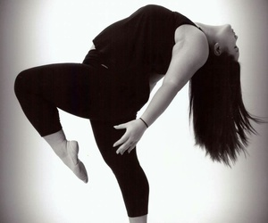 black and white, studio, and dance image
