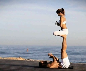 yoga, couple, and fitness image