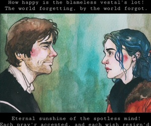 beautiful, blue, and eternal sunshine of the spotless mind image