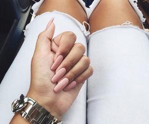 nails, fashion, and pink image