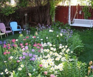 flowers, garden, and bambi image