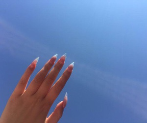 nails, blue, and tumblr image