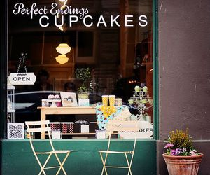cafe, store, and cupcakes image