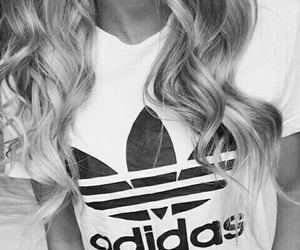 adidas, hair, and blonde image