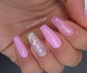 glitter, manicure, and nail image