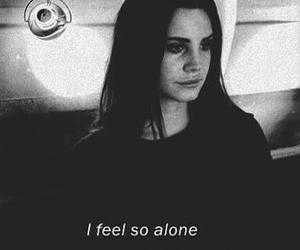 alone, lana del rey, and sad image