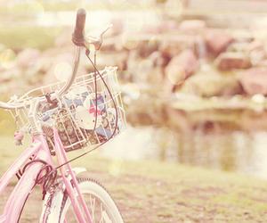 pink, bike, and vintage image