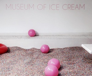 balls, ice cream, and pink image